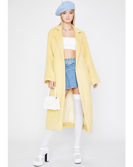 Honey Ivy League Habits Faux Fur Coat