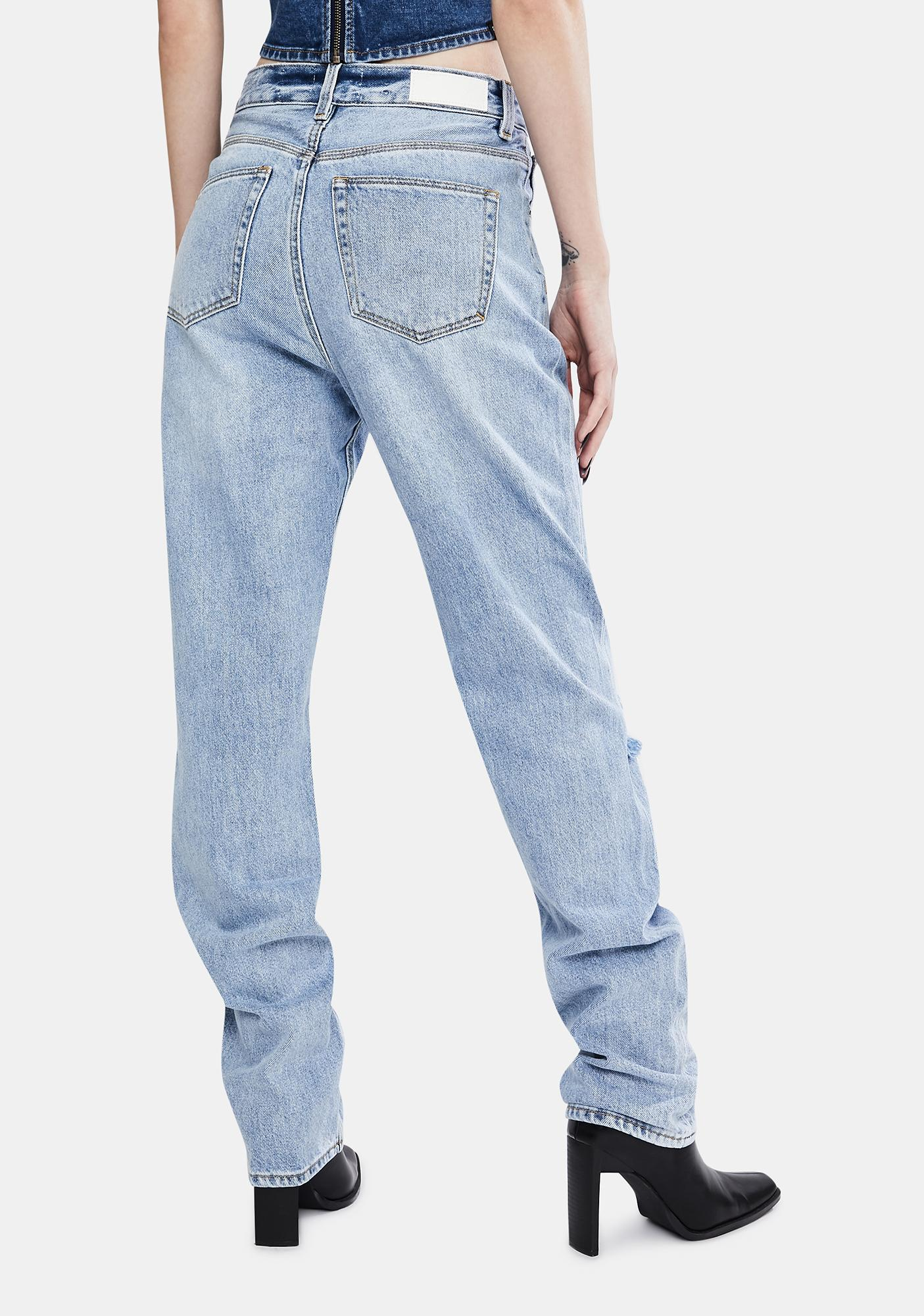 Zee Gee Why Indigo Raider Straight Up Relaxed Jeans