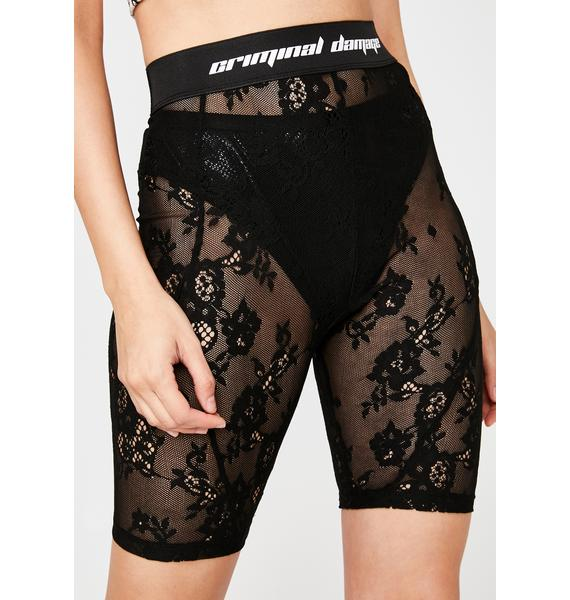 Criminal Damage Lace Biker Shorts