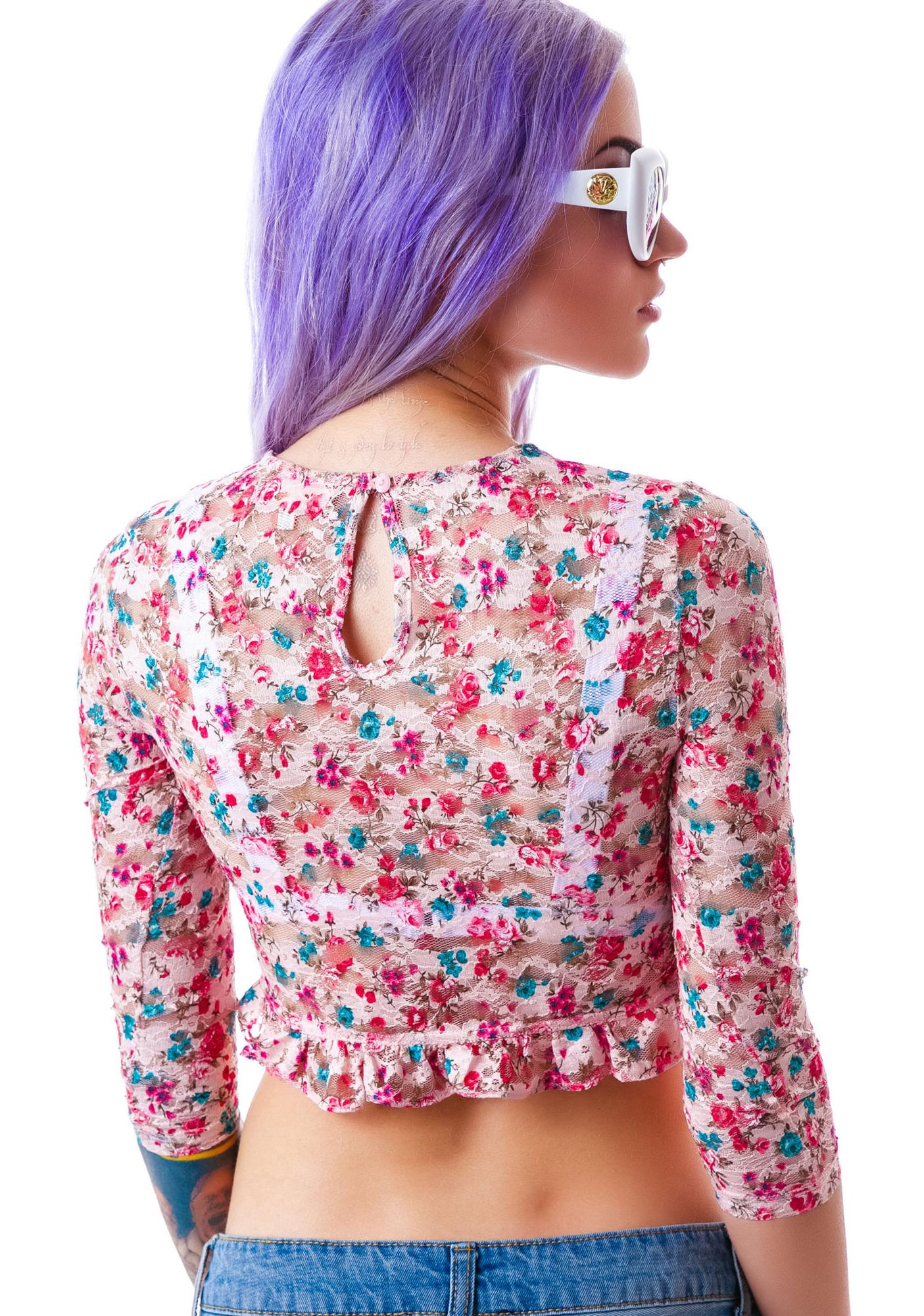 Claire Floral Crop Top