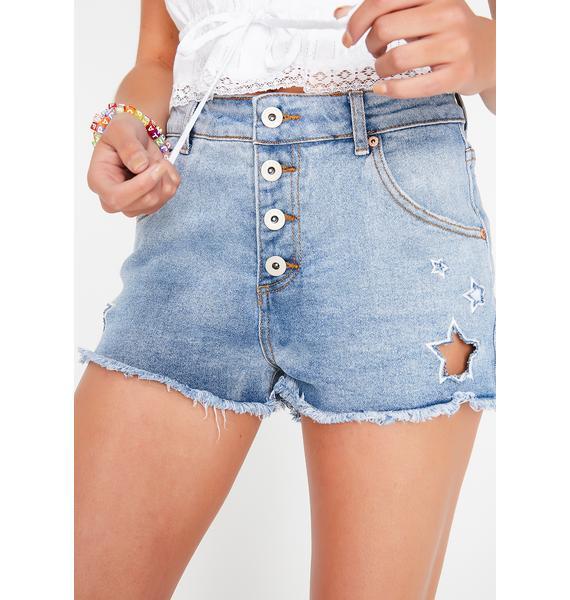 Star Spangled Denim Shorts