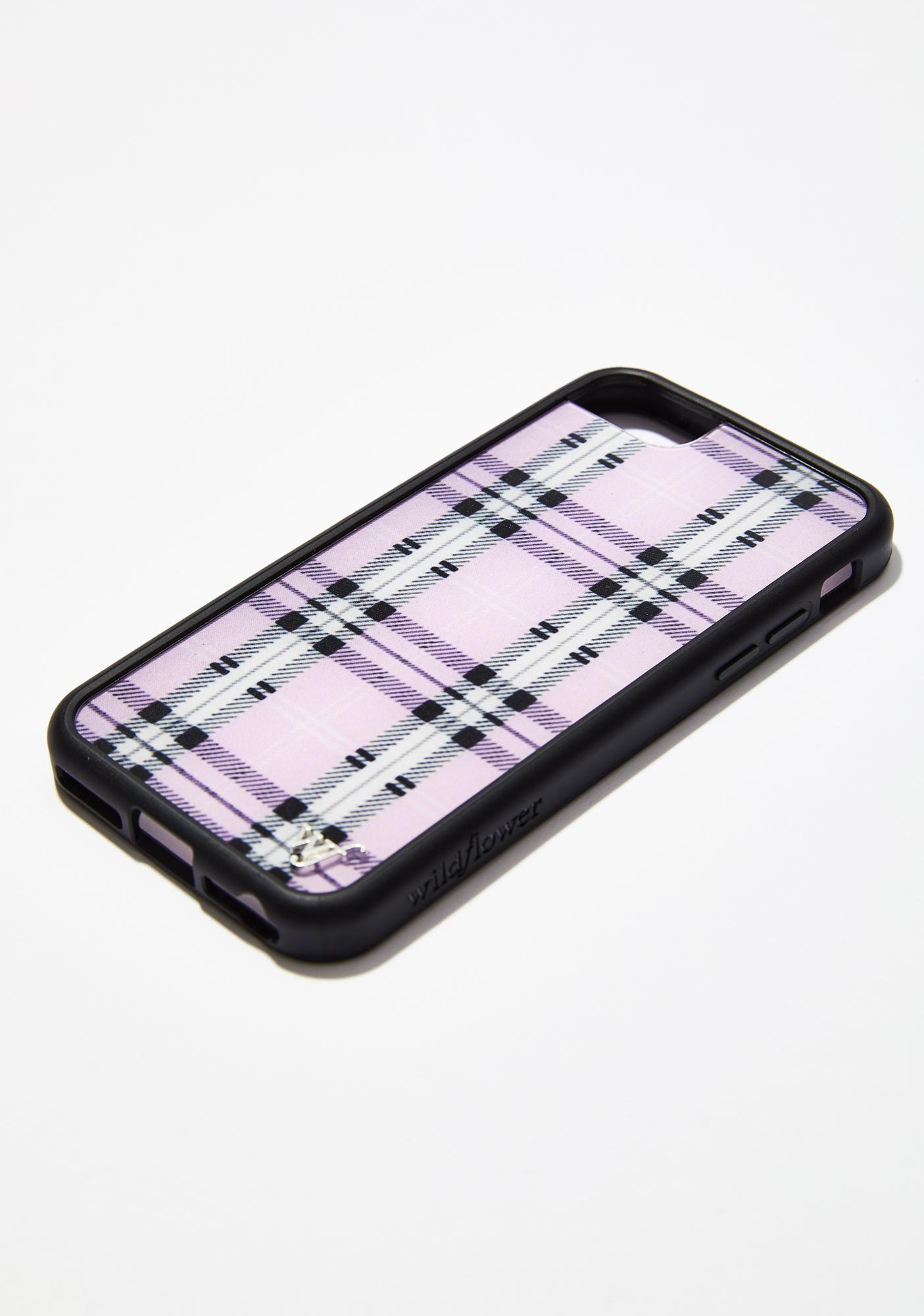 Wildflower Lavender Plaid iPhone Case