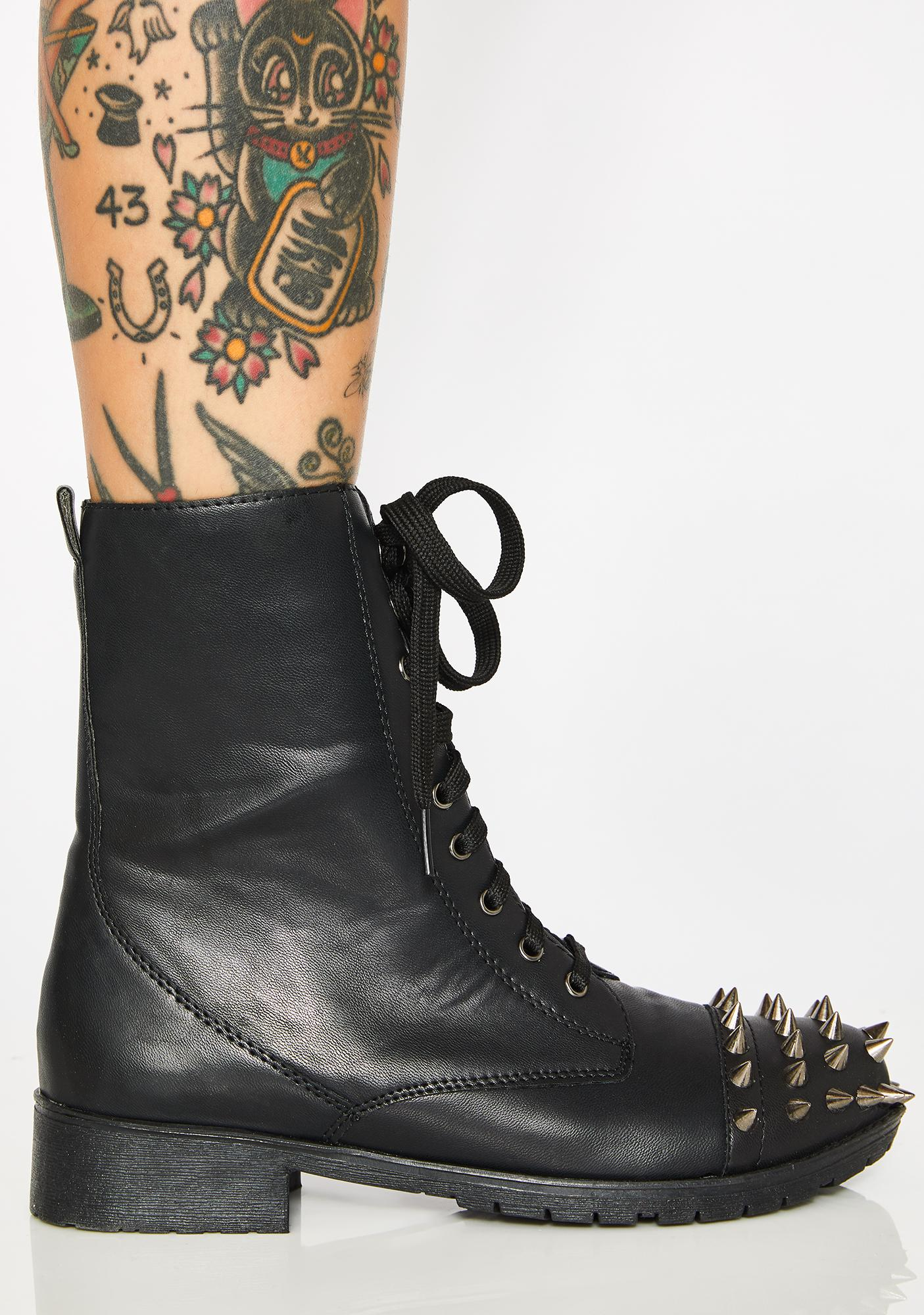 Kick'Em To The Curb Spiked Boots