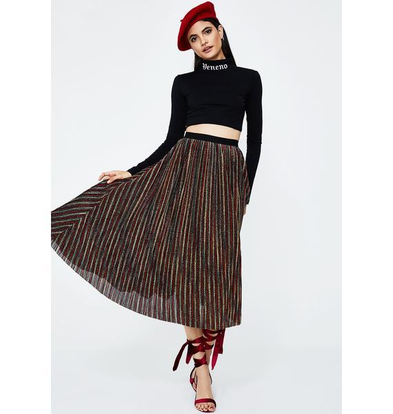 So Pleated Midi Skirt