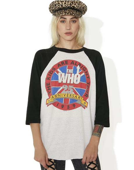 Vintage The Who Raglan Tee