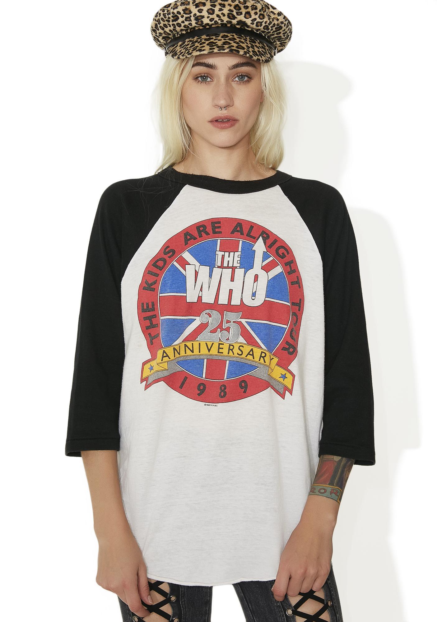 Vintage The Who Raglan Tee