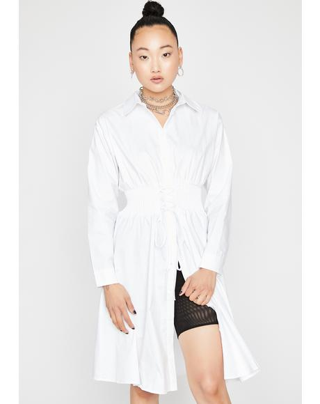 Boss Lady Shirt Dress