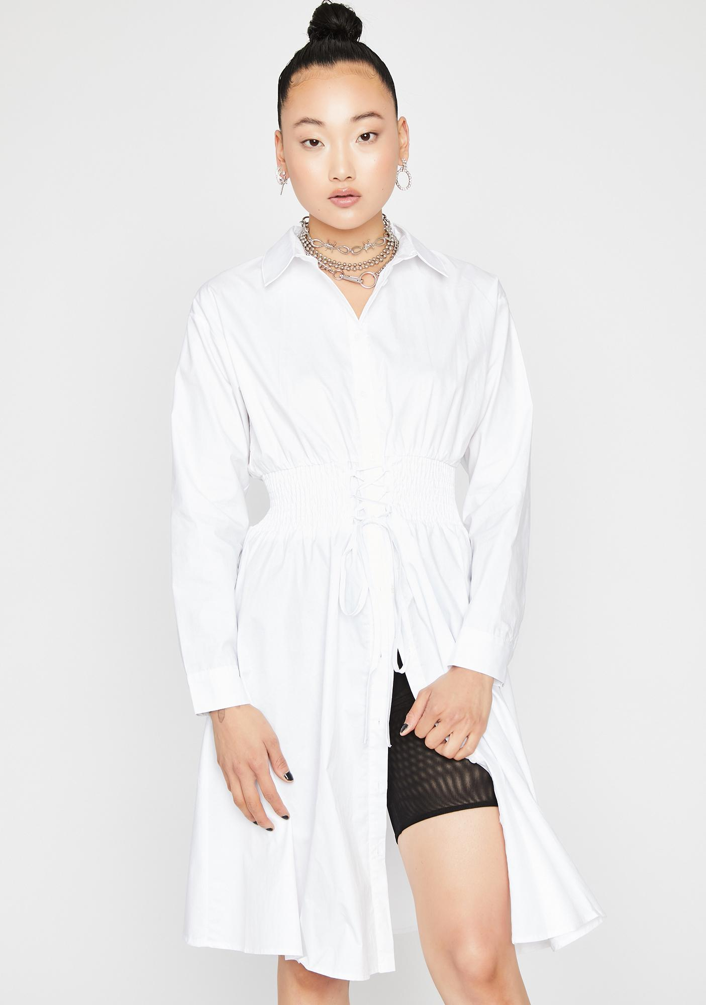 Boss Lady Shirt Dress