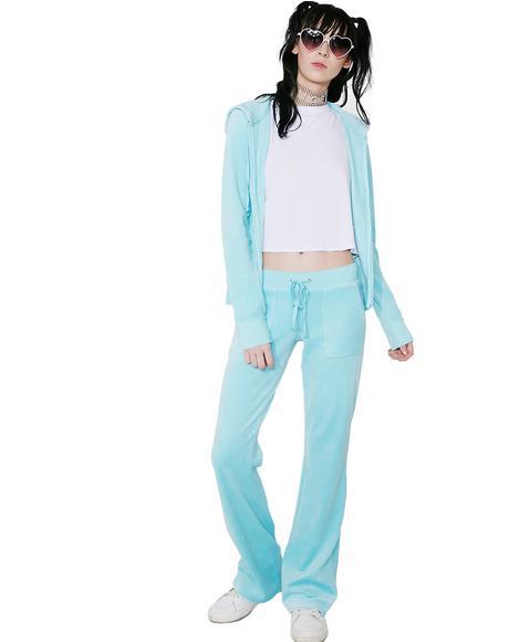 Sky Velour Del Rey Pants