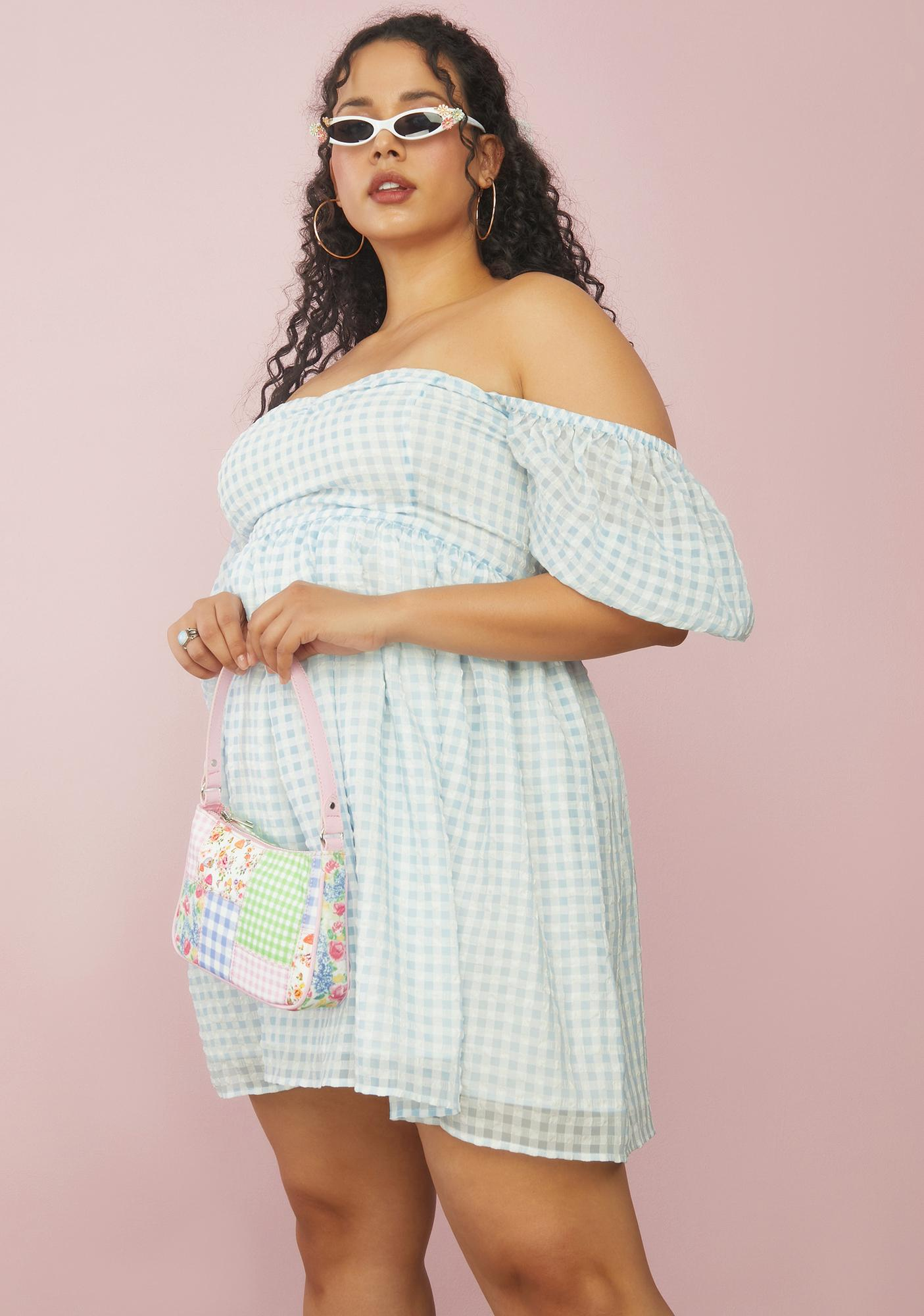 Sugar Thrillz Long Forgotten Fairytale Gingham Babydoll Dress