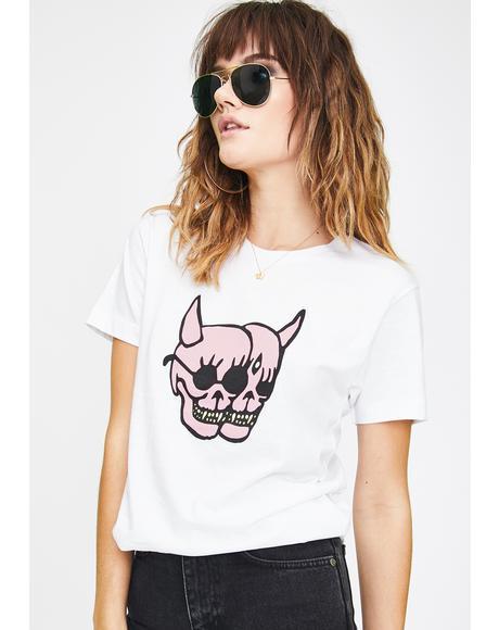 Pink Skulls Graphic Tee