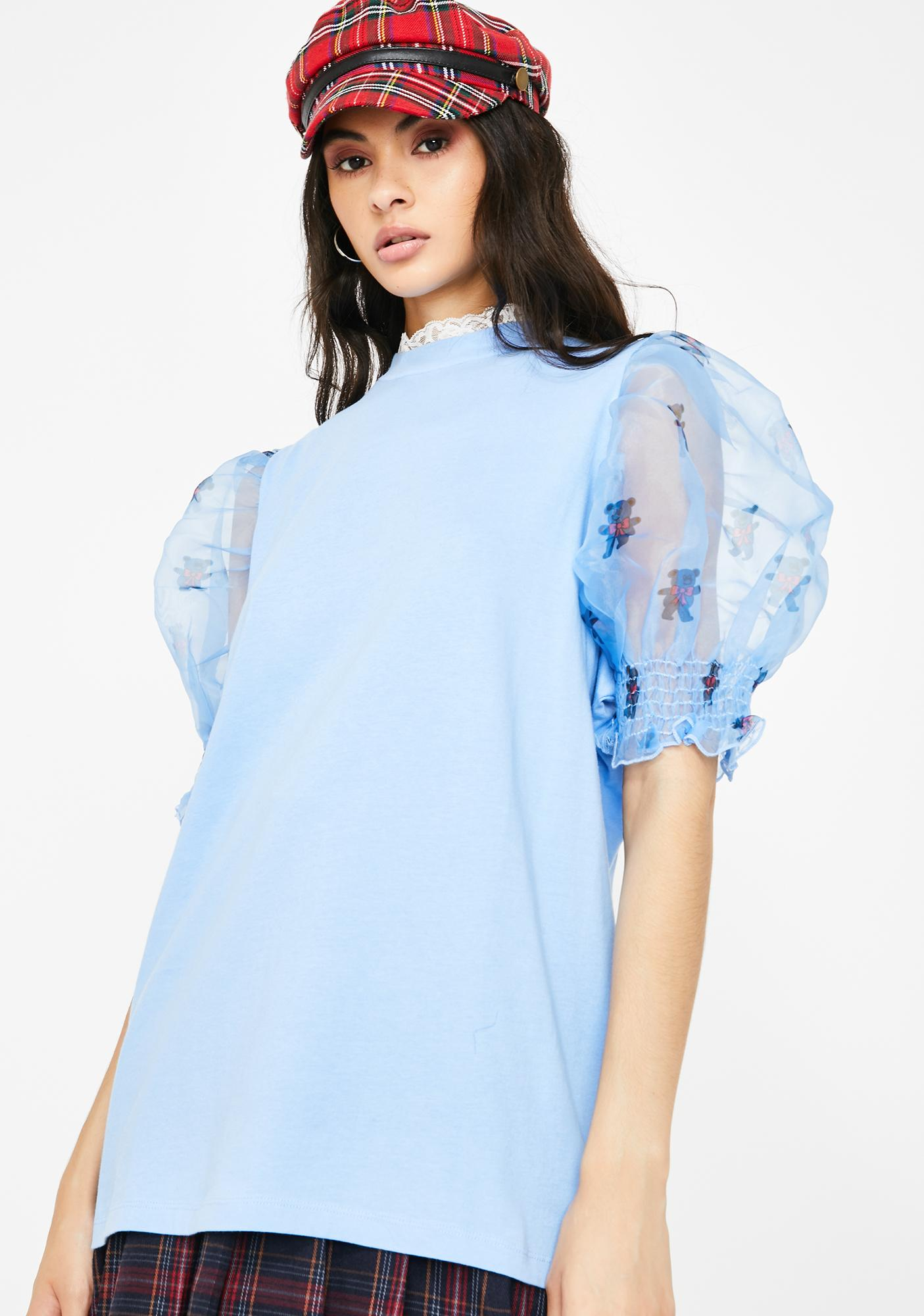 Lazy Oaf Teddy Sleeve T-Shirt