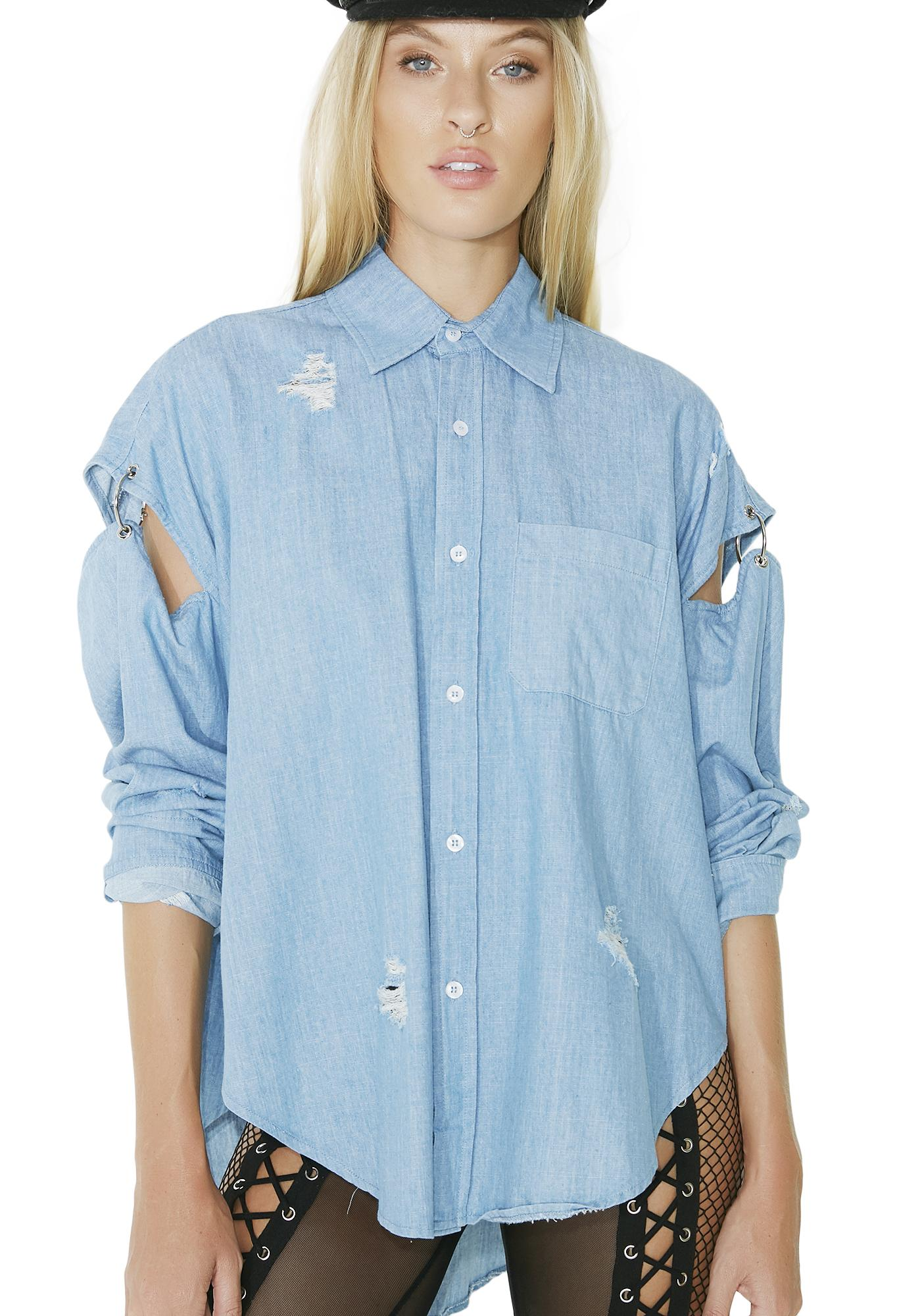 Wandering Westward Denim Shirt