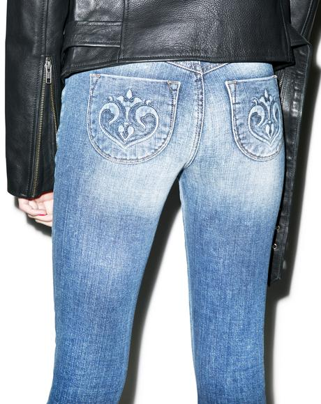 Hannah Beach Bum Slim Crop Jeans
