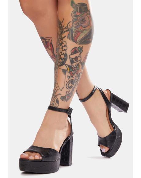 Theresa Snakeskin Heels