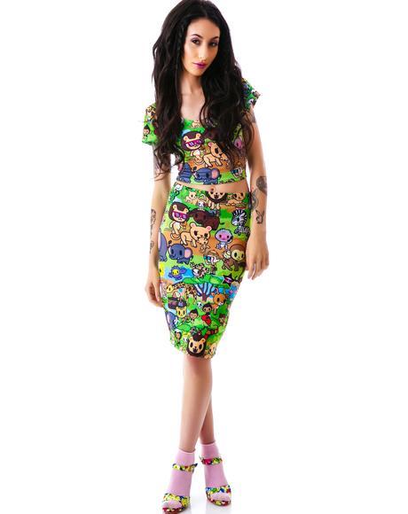 Japan L.A. x Tokidoki Savannah Column Skirt