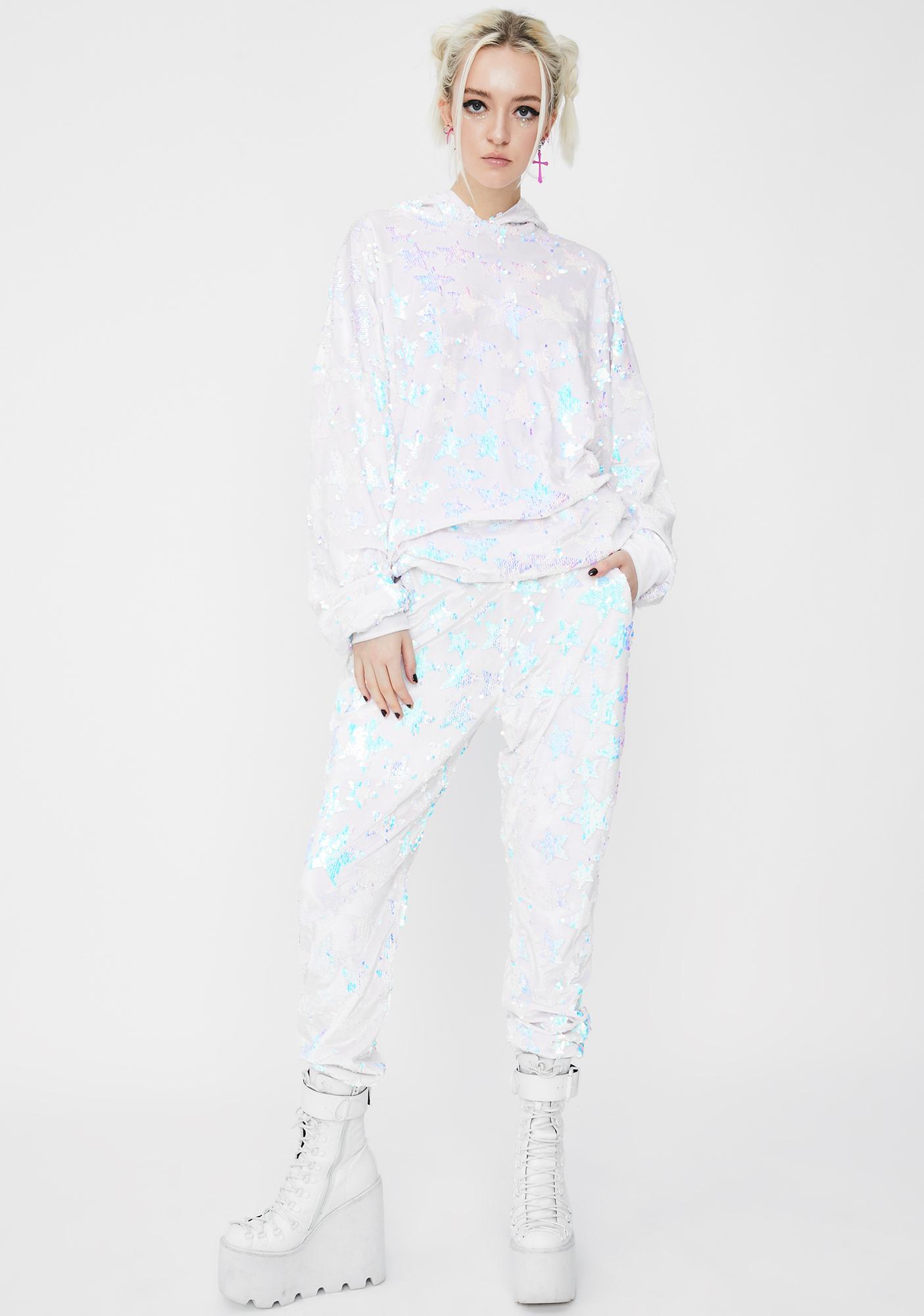 Sparkl Fairy Couture Baby I'm A Star Velvet Sweatpants
