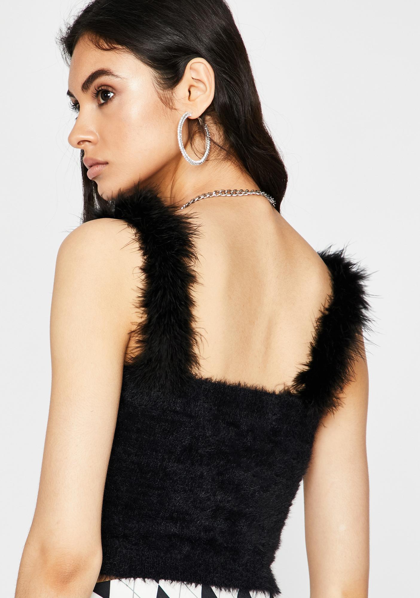 Noir Warm N' Fuzzy Crop Top