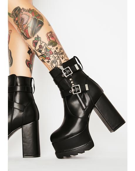 Hold Back Platform Boots