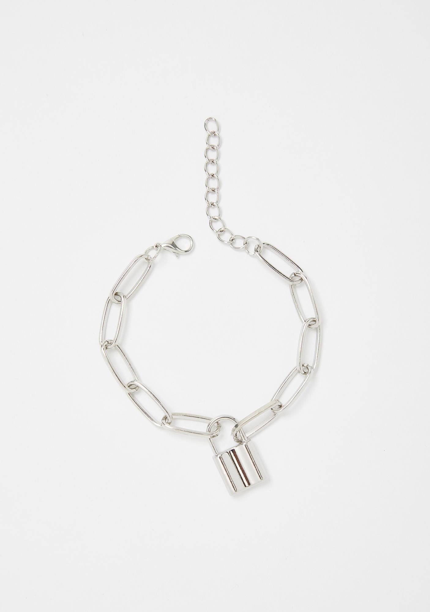 Lock 'Em Away Chain Bracelet
