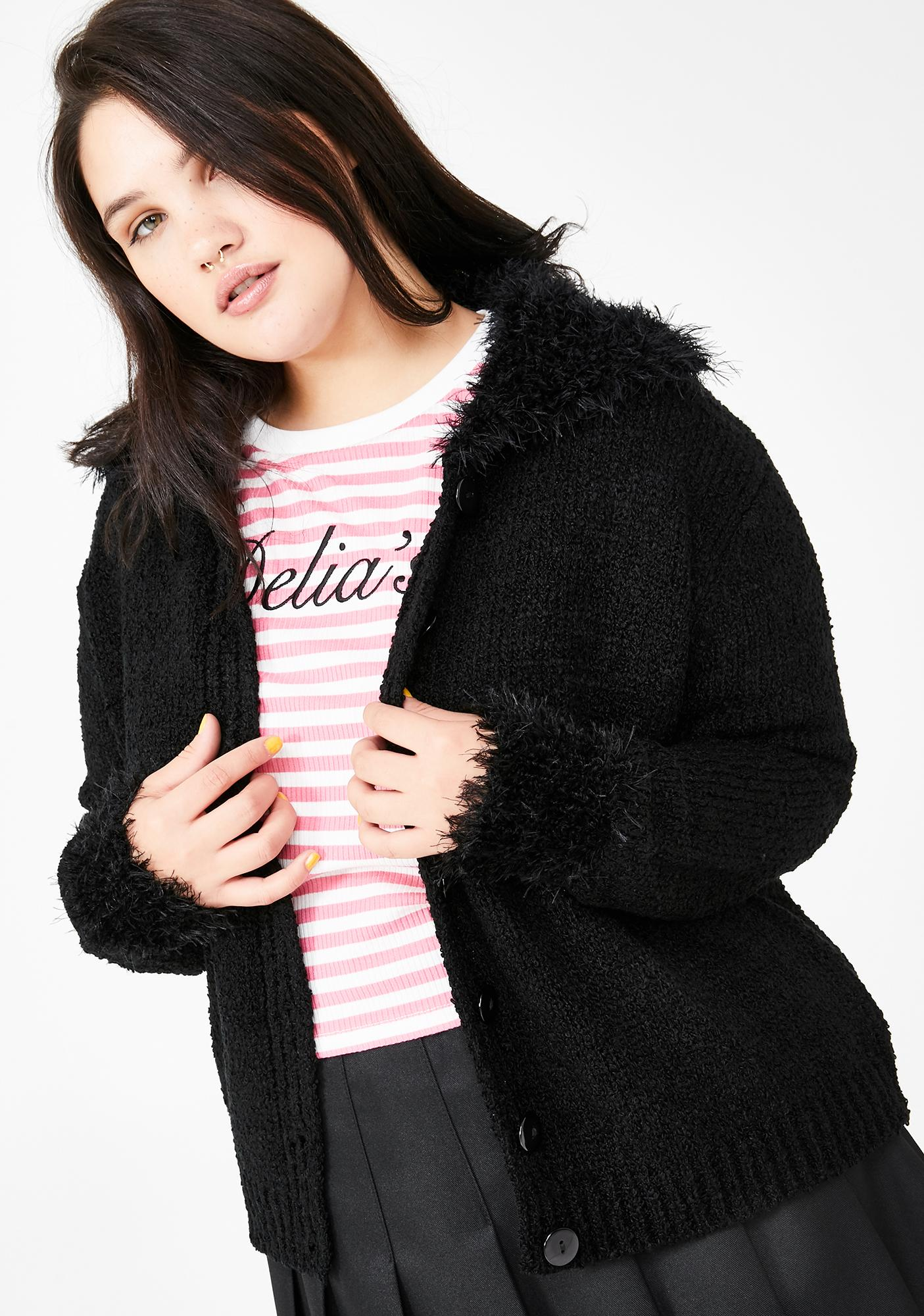 dELiA*s by Dolls Kill BB Call Me Crazy Boucle Sweater