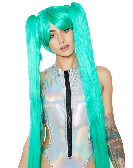 Aqua Angel Long Wig