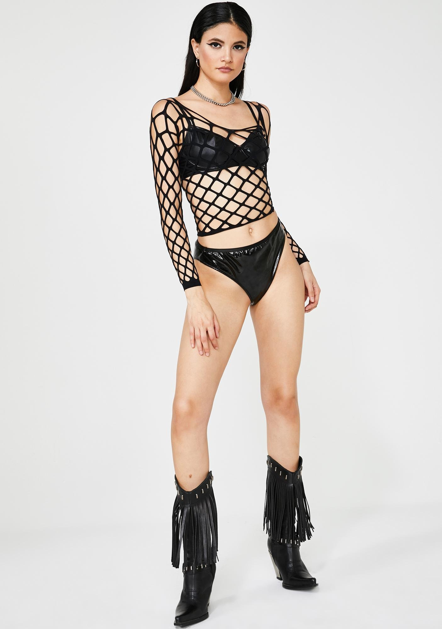 Hell And Back Net Top