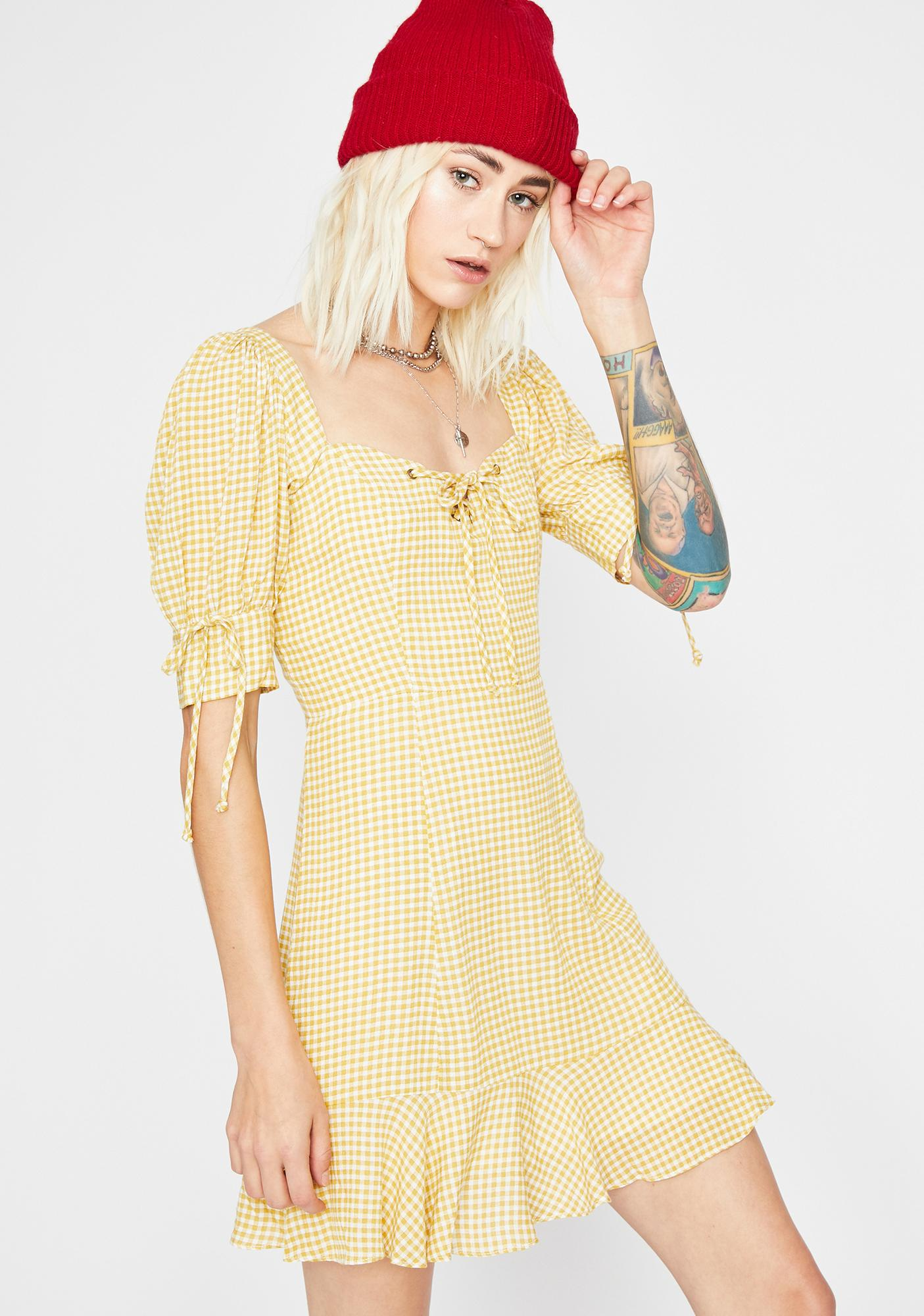 Honey Drop A Hint Gingham Dress