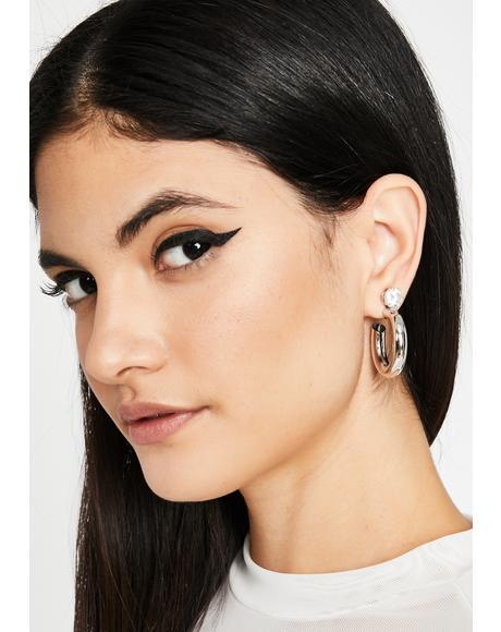 Previous Engagement Hoop Earrings