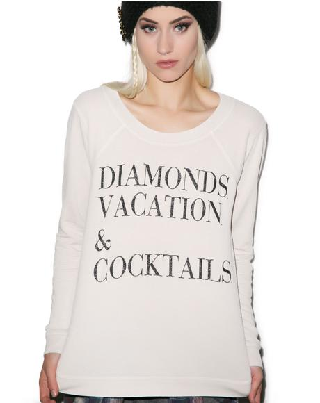 Diamonds, Vacation and Cocktails Top