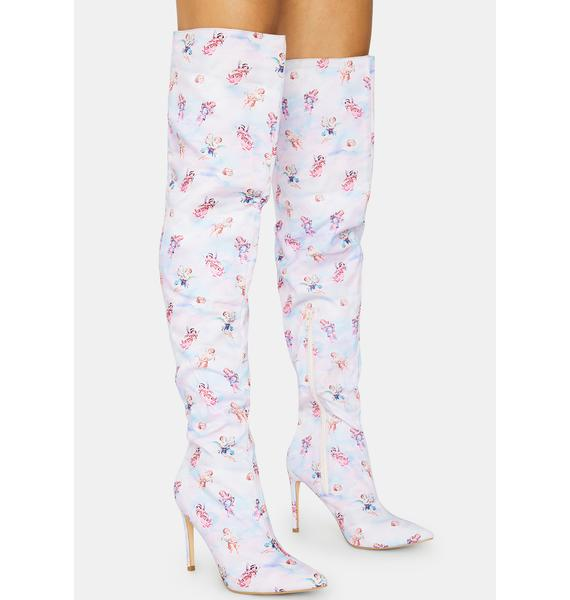 Angel Bad Attitude Knee High Boots