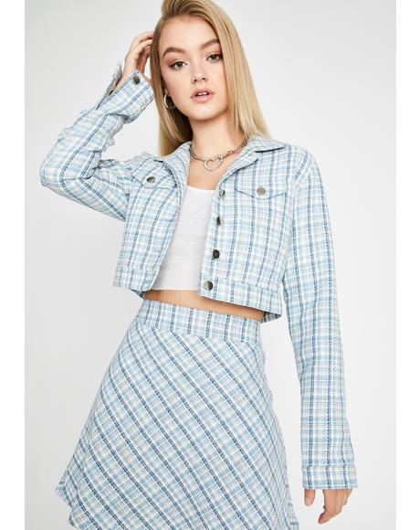 We're Going Shopping Cropped Jacket
