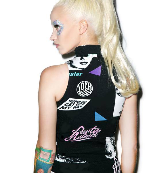 Joyrich Editorial Map Highneck Sleeveless Crop Tank