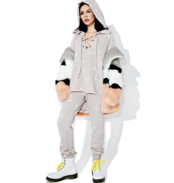 Wildfox Couture Football Star Fleece Hoodie