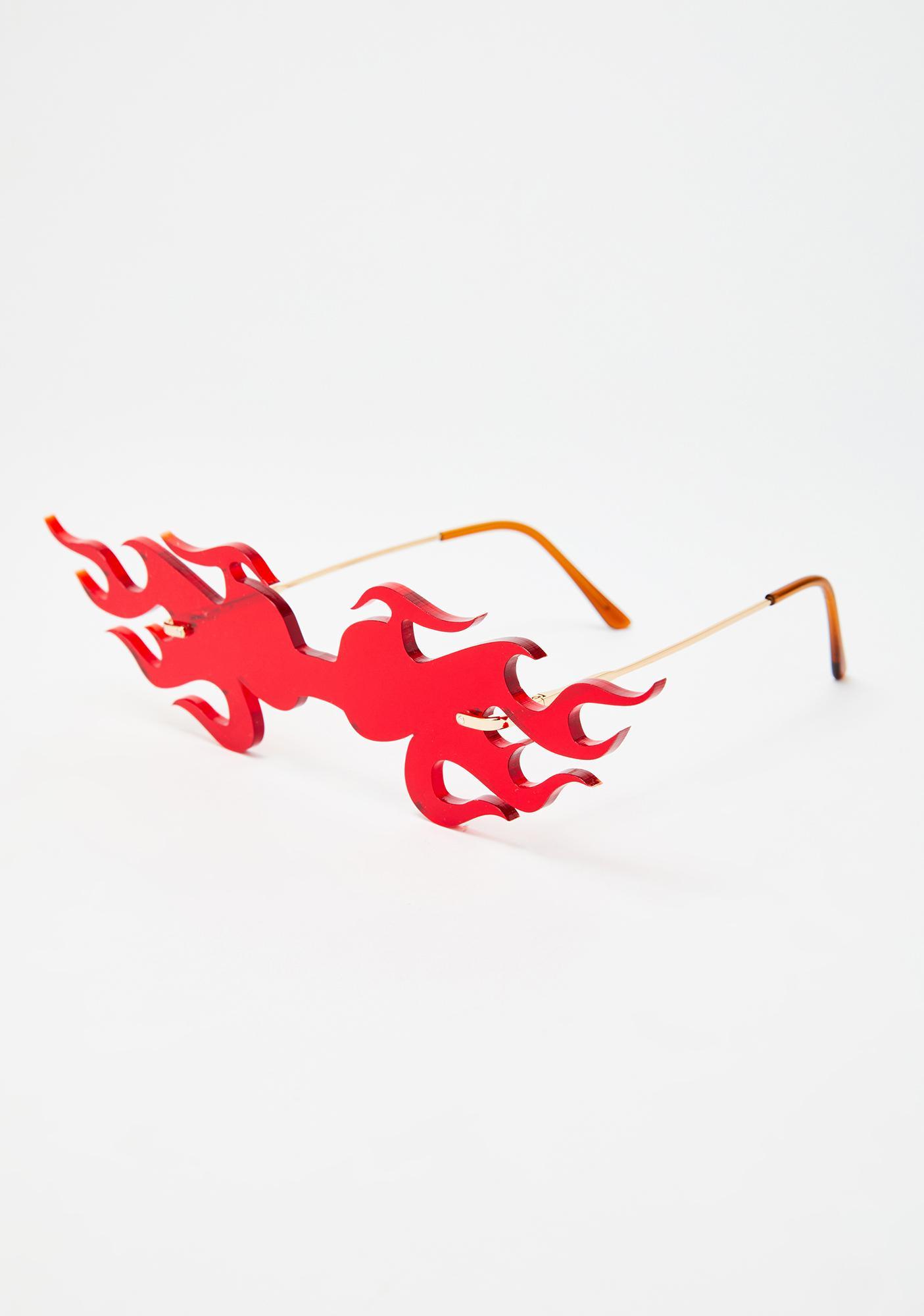 IWANTITALL Flame Glasses