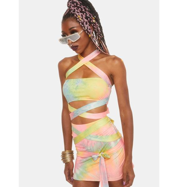 Club Exx Wings Of Paradise Wrap Top
