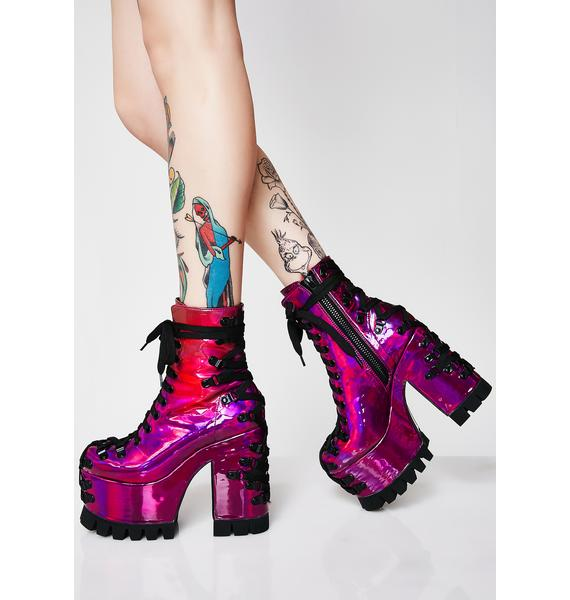 Club Exx Electric Dreams Corset Boots