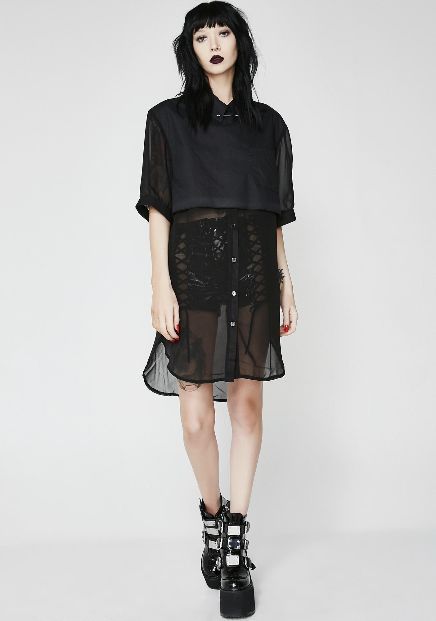 Disturbia Joanie Shirt Dress