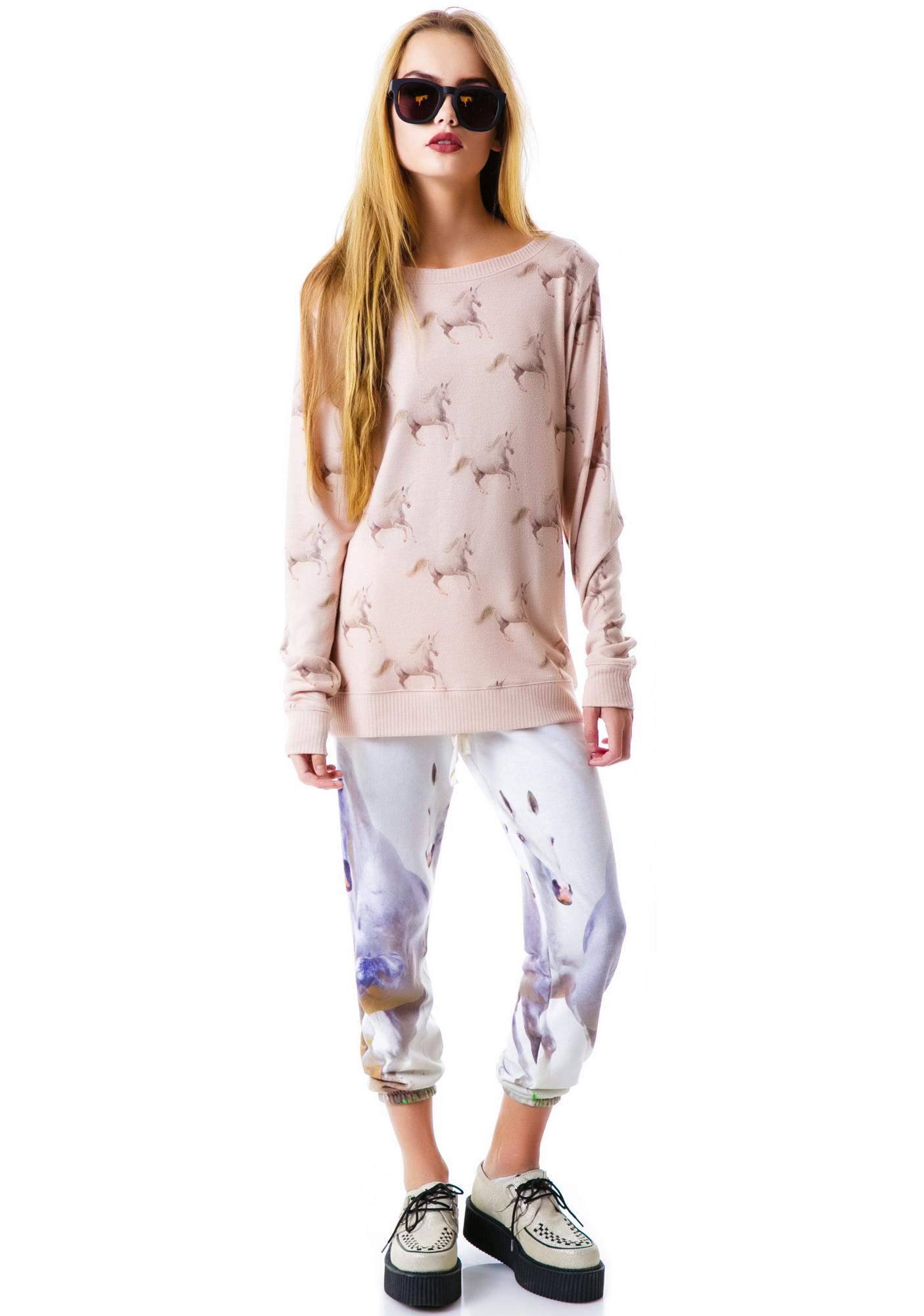All Things Fabulous Running Unicorns Cozy Sweatshirt