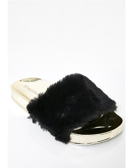 Wannabe Rich Fur Slides