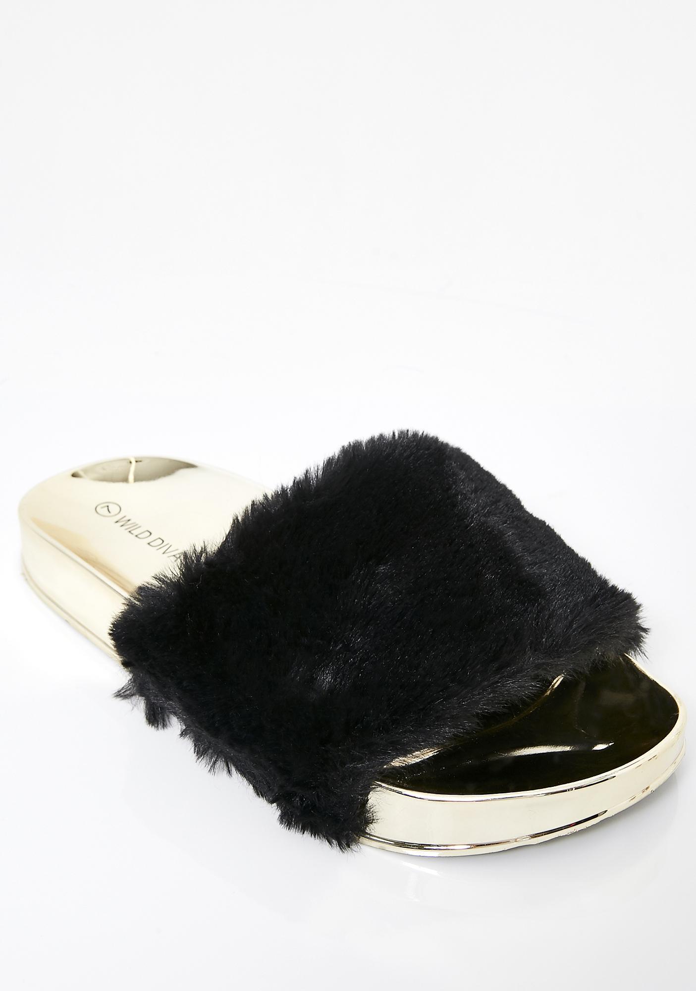 Wannabe Rich Fur Slides