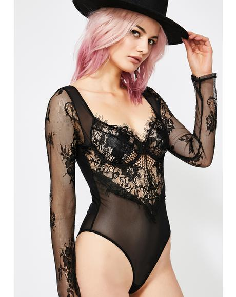 Noir Snatched Sinner Lace Bodysuit