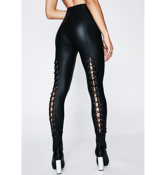 Poster Grl Back Off Lace-Up Leggings