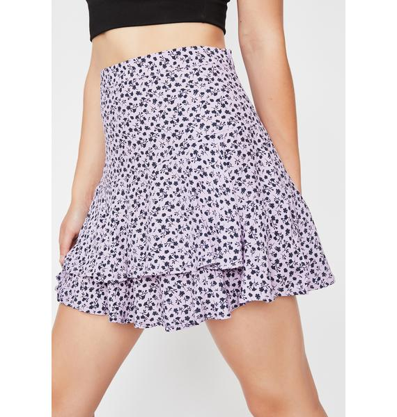 Passion Play Floral Skirt