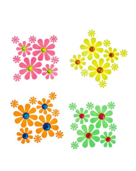 Daisy Blacklight Body Stickers