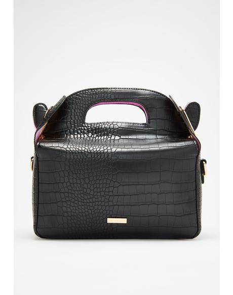 Ffion Croc Crossbody Bag