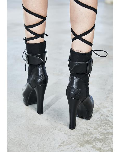 Bassline Lace Up Ankle Boots