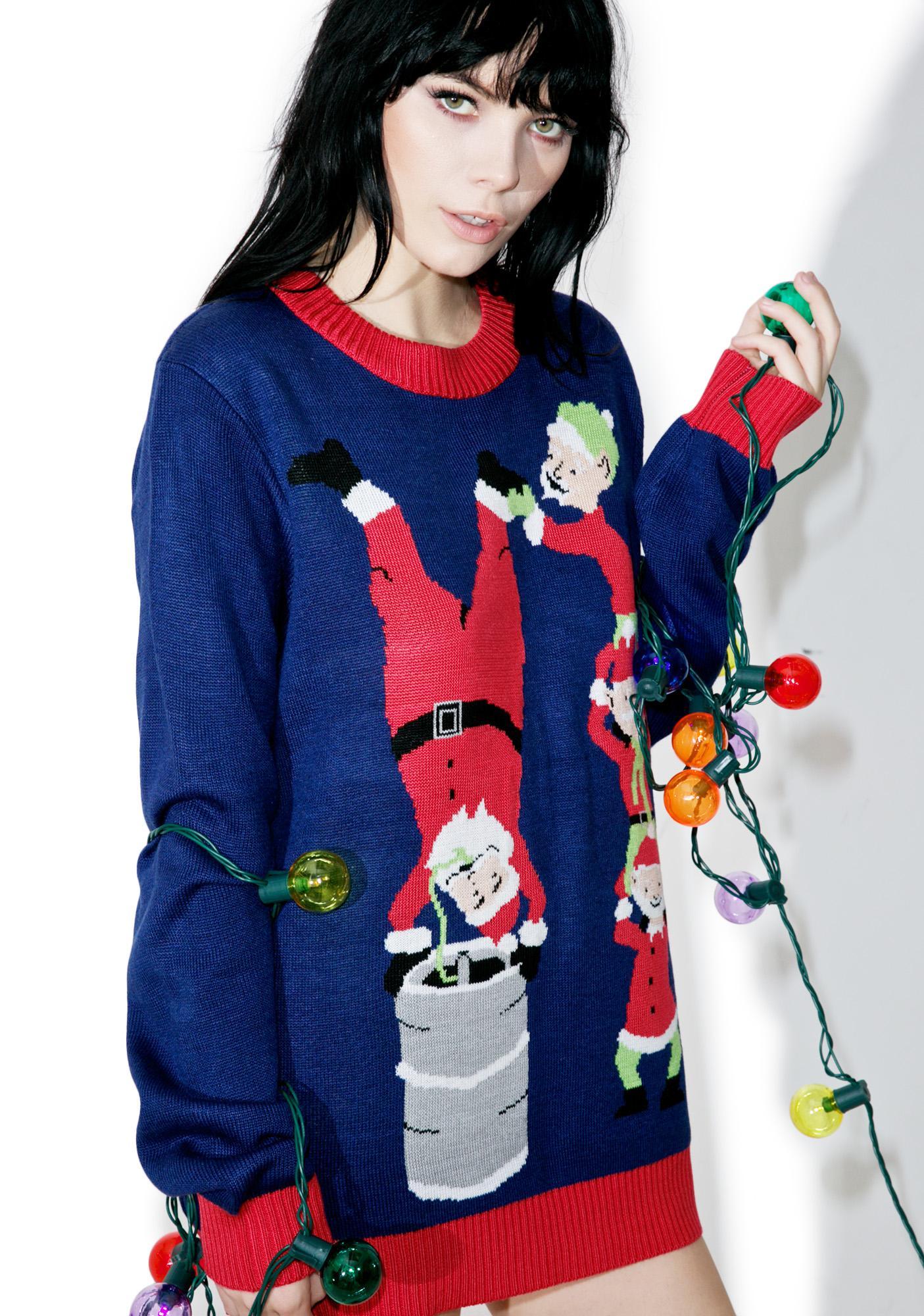 Tipsy Elves Keg Stand Sweater