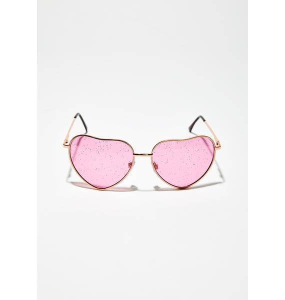 Dancing Queen Heart Sunglasses