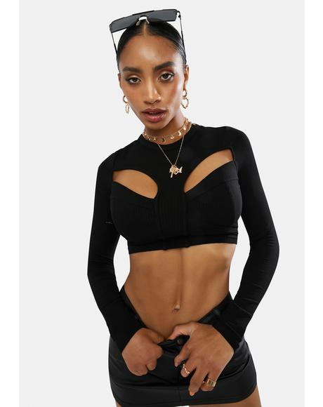About Last Night Cutout Crop Top